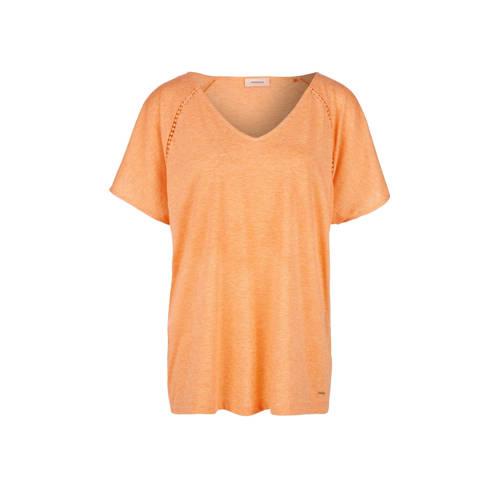 TRIANGLE gehaakt T-shirt oranje