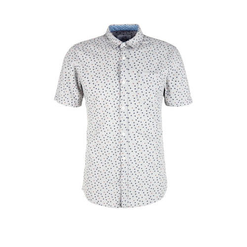 Q/S designed by regular fit overhemd met all over