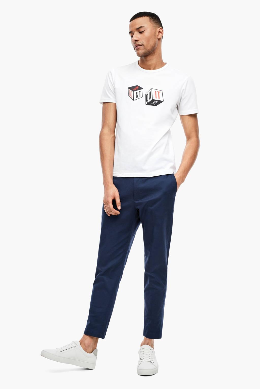 s.Oliver BLACK LABEL T-shirt met printopdruk wit, Wit
