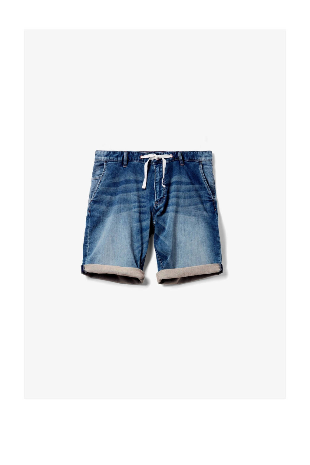 Q/S designed by regular fit jeans short blauw, Blauw