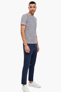 s.Oliver BLACK LABEL gestreept T-shirt rood/marine, Rood/marine