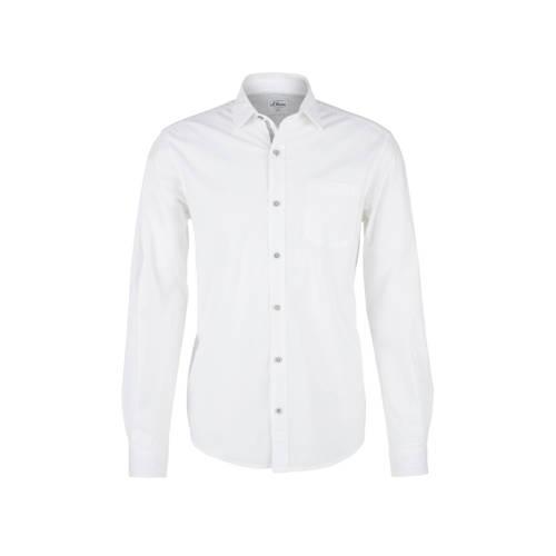 s.Oliver regular fit overhemd wit