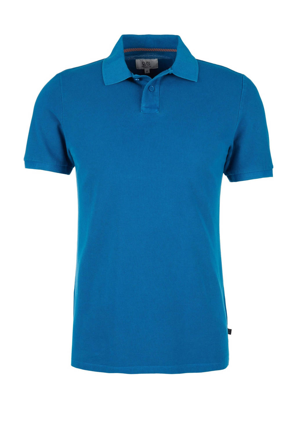 Q/S designed by regular fit polo blauw, Blauw