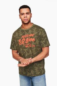 s.Oliver T-shirt met tekst donkergroen, Donkergroen