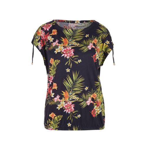 s.Oliver gebloemd T-shirt marine/multi