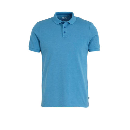 Q/S designed by slim fit polo turquoise