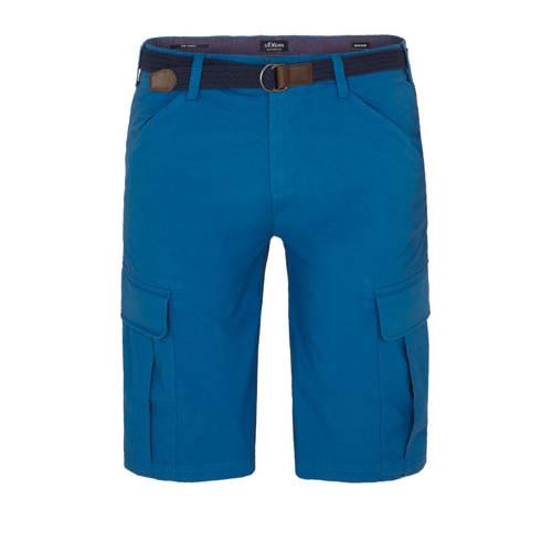 s.Oliver regular fit cargo bermuda blauw