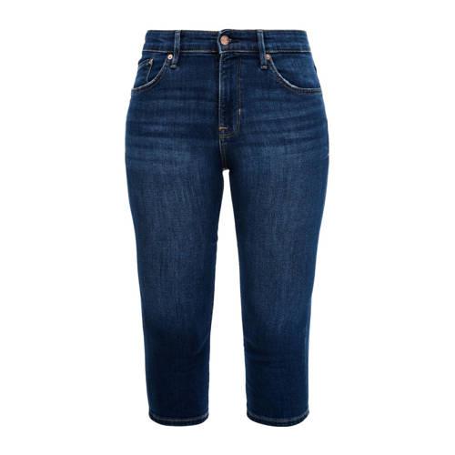 s.Oliver slim fit capri jeans donkerblauw