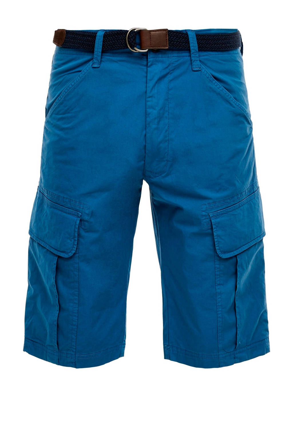 s.Oliver regular fit cargo bermuda, Blauw