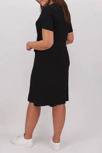 Simply Be Capsule overslagjurk met ceintuur zwart, Zwart