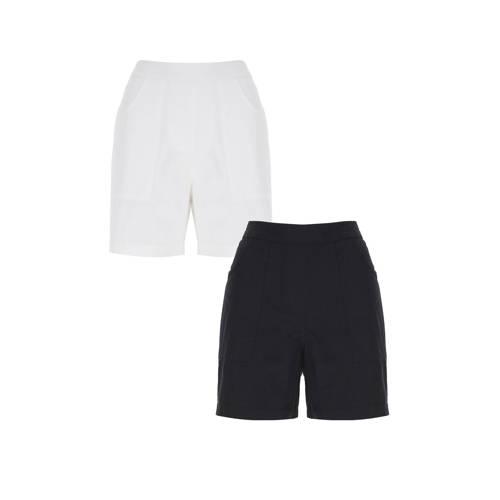 Simply Be Capsule high waist slim fit short zwart/