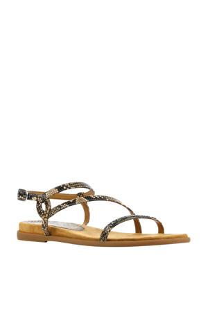 Claris  leren sandalen bruin