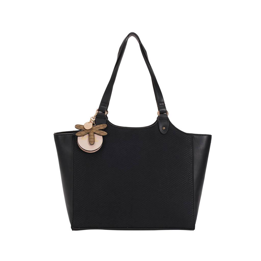 Parfois   shopper Petal zwart, Zwart