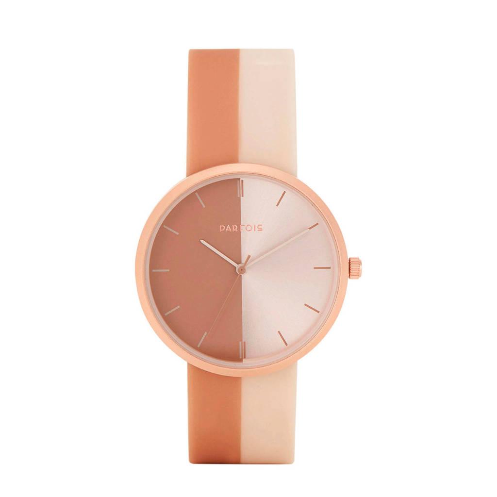 Parfois horloge beige, Beige/bruin