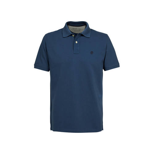 Timberland slim fit polo met logo blauw