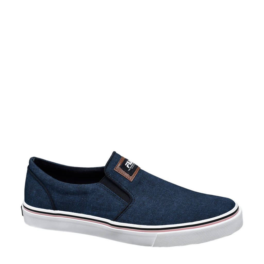 Fila   slip on sneakers blauw, Blauw