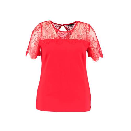 MS Mode top en kant rood