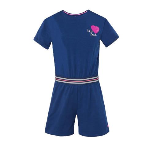 WE Fashion jumpsuit met pailletten donkerblauw