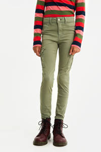 WE Fashion Blue Ridge super skinny cargobroek army groen, Army groen