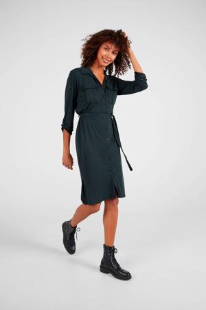 Zwarte safari-stijl jurk