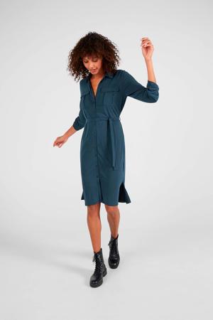 Donkerblauwe safari-stijl jurk