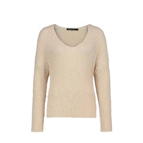 Expresso grofgebreide trui met glitters lichtkaki