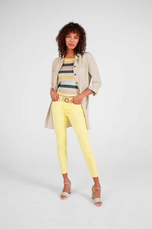 cropped skinny jeans geel