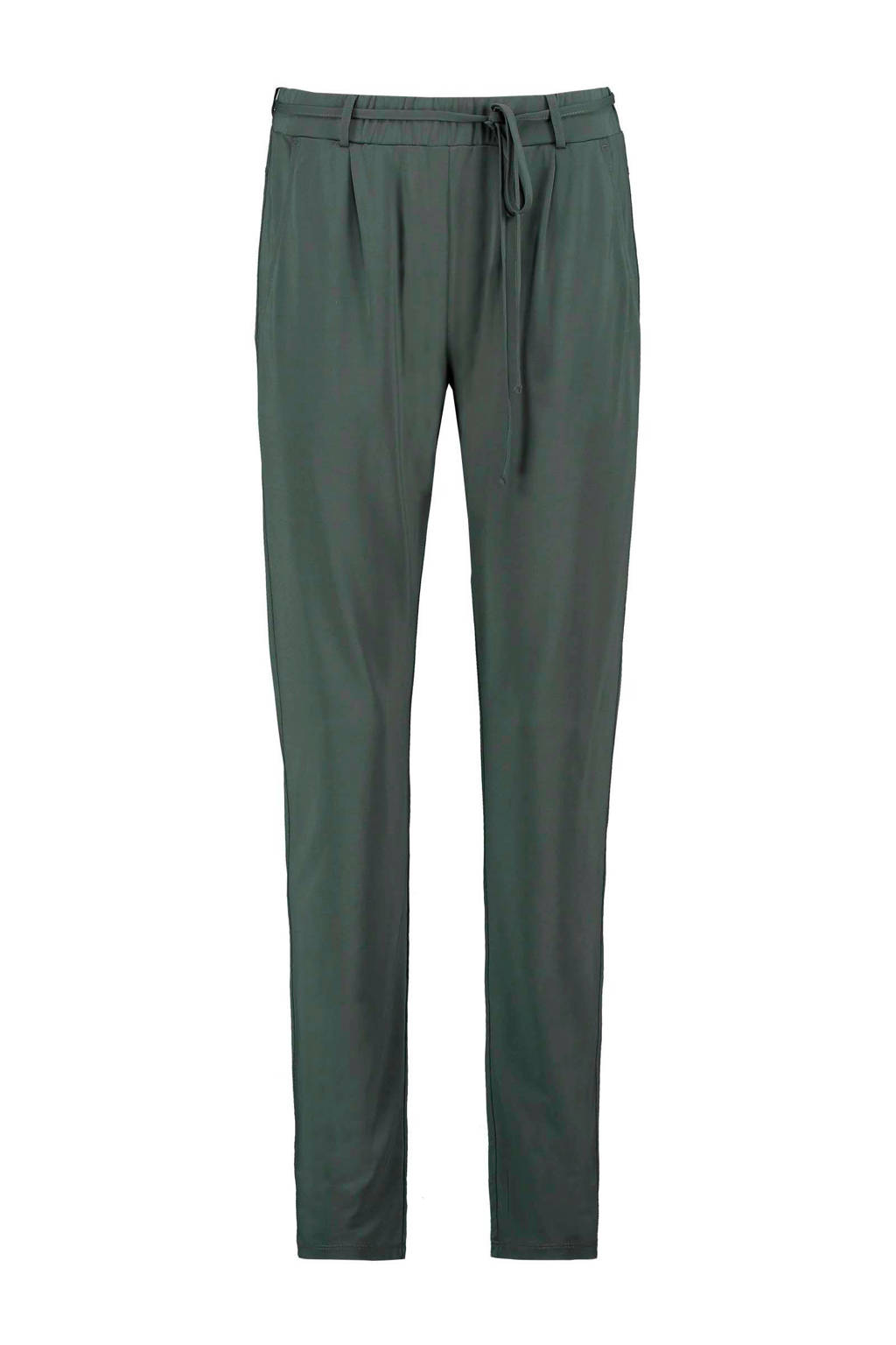 Expresso tapered fit broek Claire donkergroen, Donkergroen