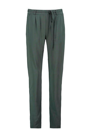 tapered fit broek Claire donkergroen
