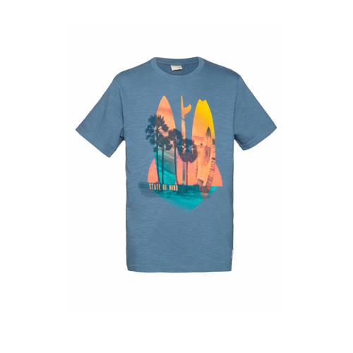 Protest T-shirt Rik blauw
