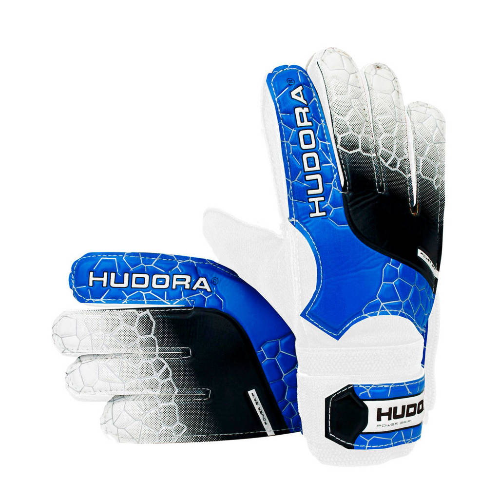 Hudora   Keepershandschoenen - Maat S, Blauw/zwart/wit