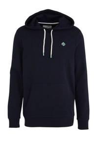 Tom Tailor Denim gemêleerde hoodie donkerblauw, Donkerblauw