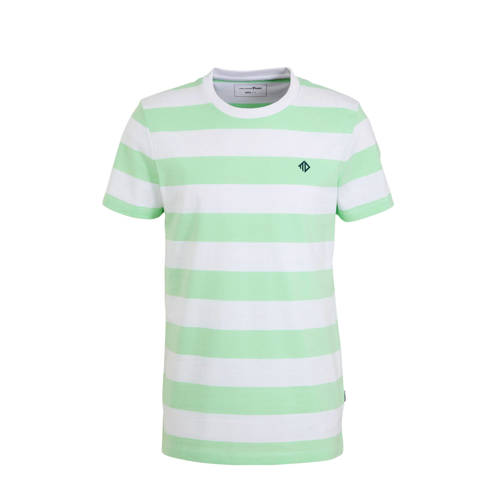 Tom Tailor Denim gestreept T-shirt mintgroen-wit