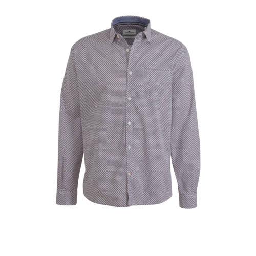 Tom Tailor slim fit overhemd met all over print ro