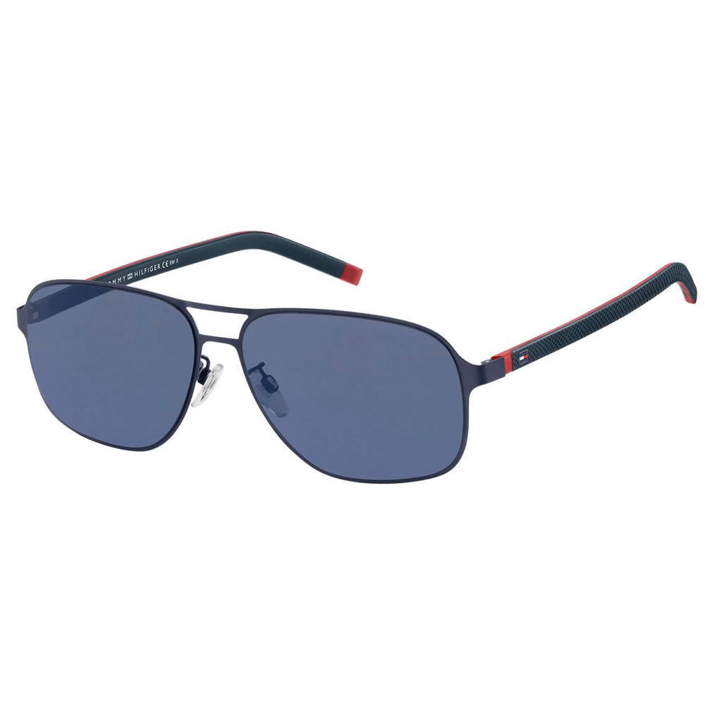 Tommy Hilfiger zonnebril TH 1719/F/S blauw, Blauw/rood