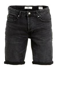 America Today regular fit jeans short zwart, Black denim