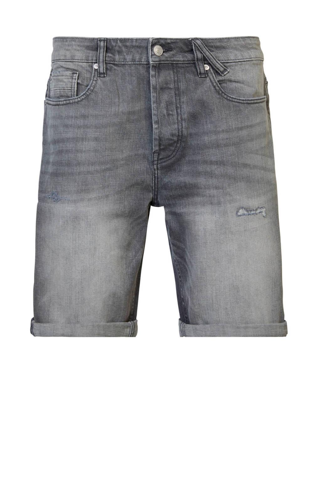 America Today regular fit jeans short grey denim, Grey denim