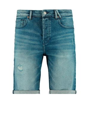 regular fit jeans short medium blue