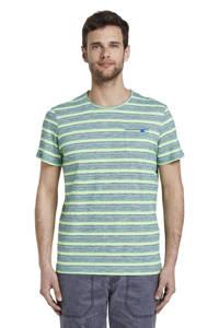 Tom Tailor gestreept T-shirt groen/wit, Groen/wit