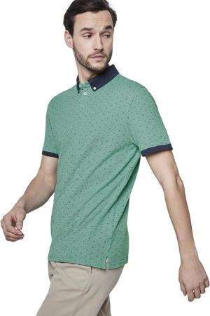 gemêleerde regular fit polo groen/blauw