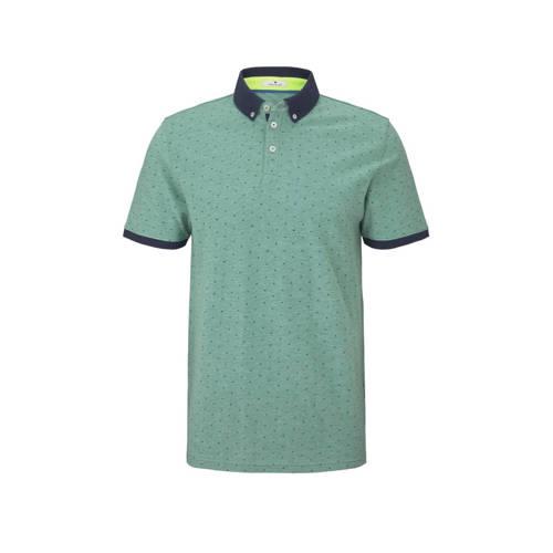 Tom Tailor gem??leerde regular fit polo groen/blau