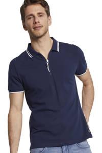 Tom Tailor regular fit polo marine/wit, Marine/wit