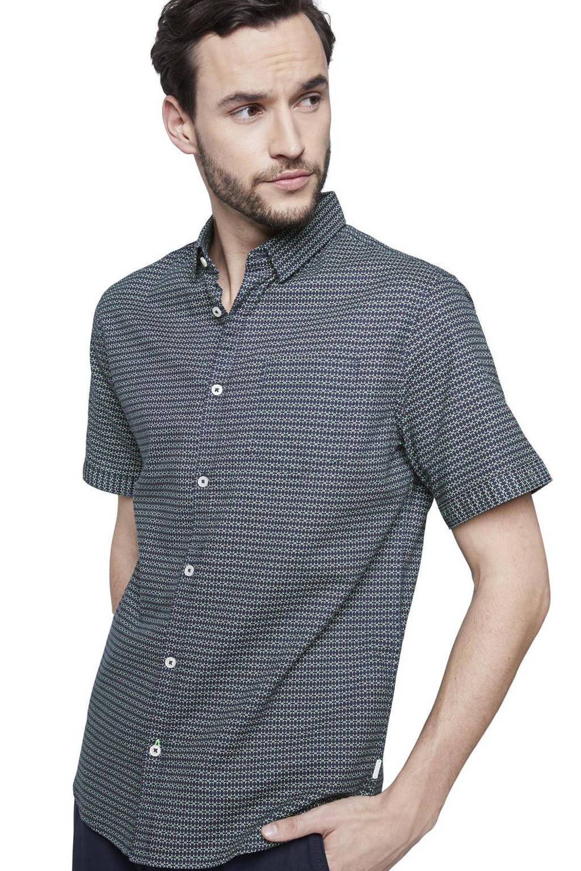Tom Tailor geruit regular fit overhemd grijsblauw, Grijsblauw