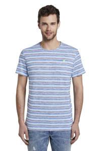 Tom Tailor gestreept T-shirt blauw/lichtblauw/wit