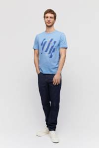 ARMEDANGELS T-shirt van biologisch katoen blauw, Blauw