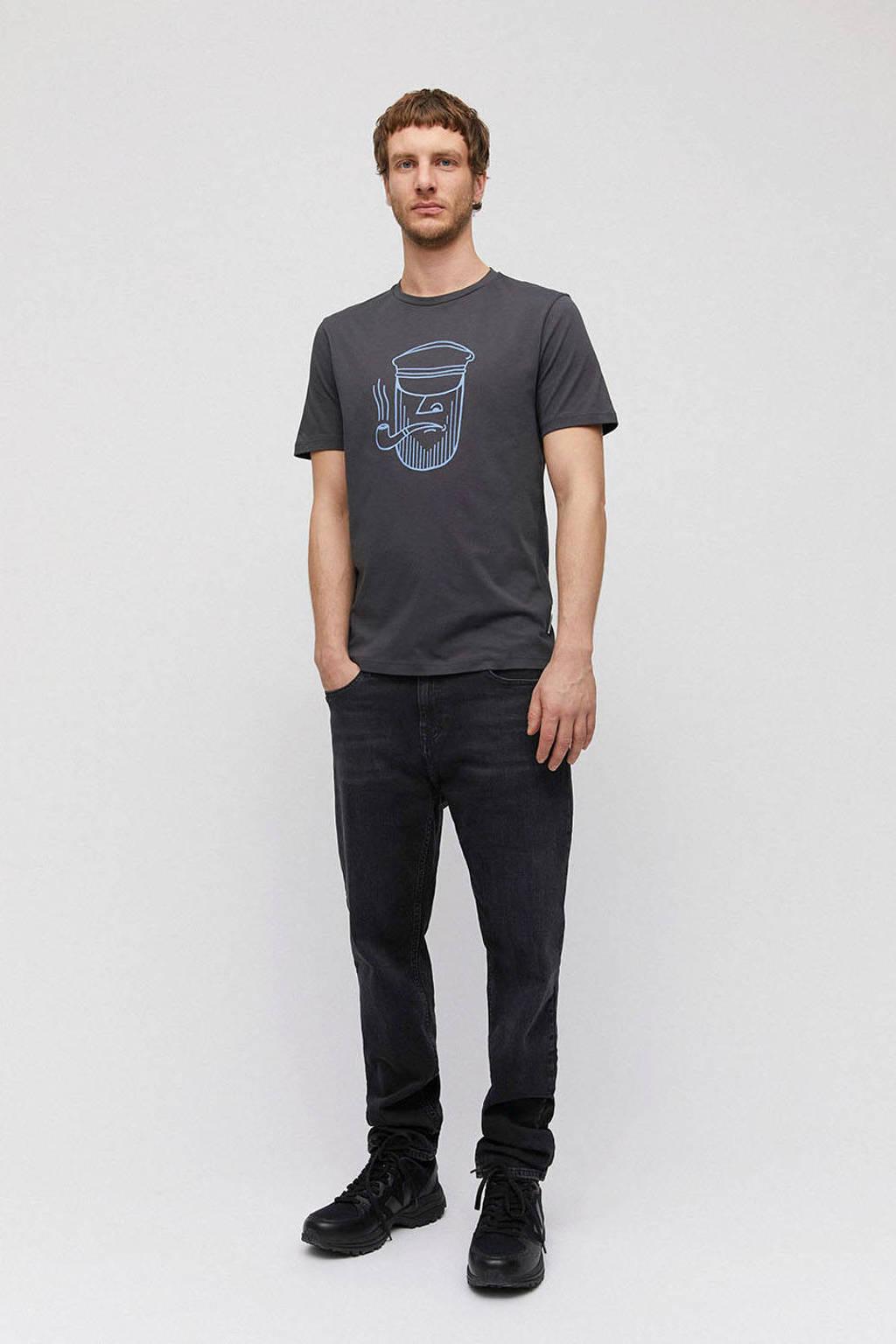 ARMEDANGELS T-shirt van biologisch katoen donkergrijs, Donkergrijs