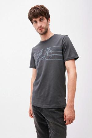 T-shirt van biologisch katoen antraciet