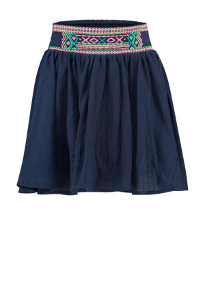 rok Quily donkerblauw/roze