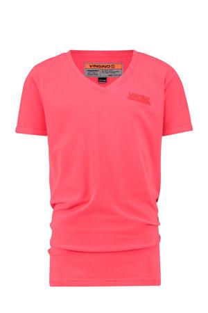 T-shirt Hama met logo fel roze