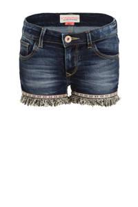Vingino jeans short Donya met zijstreep blue vintage